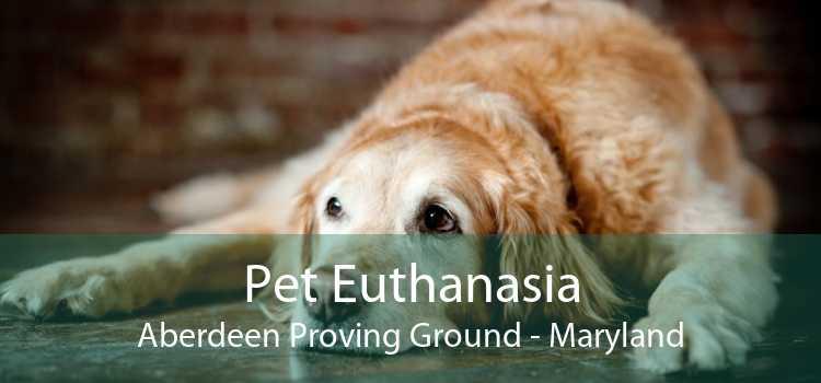 Pet Euthanasia Aberdeen Proving Ground - Maryland