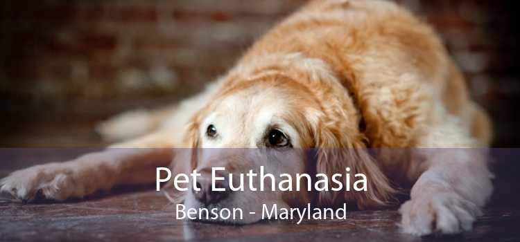 Pet Euthanasia Benson - Maryland